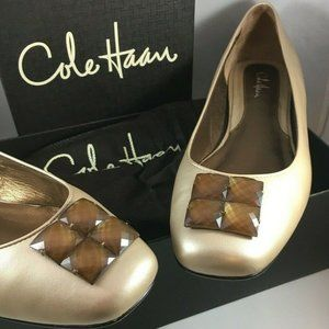 Cole Haan Air Camille Ballet Flats Soft Gold Pearl